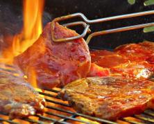 барбекю на открытом огне