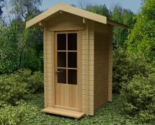 деревянный туалет для дачи
