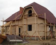 Процесс строительства дома из дерева