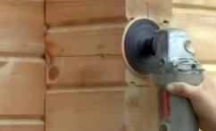 инструмент для шлифовки бревна и сруба