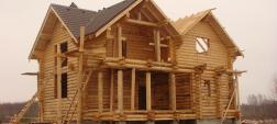 строительство дома из оцилиндрованного бревна