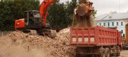 вывоз, грунта, строительный, мусор